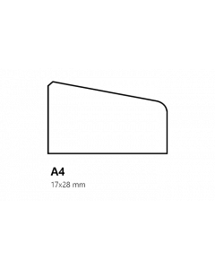 Glaslat A4 17x28 mm