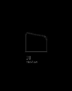 Glaslat B1 12x14 mm
