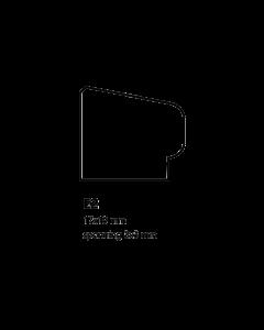 Glaslat E2 17x19 mm
